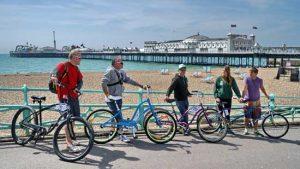 bikes and brighton pier